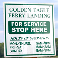 Golden Eagle Ferry sign